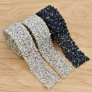 Crystal-Rhinestone-Applique-Wedding-Bridal-Trim-Iron-on-Sewing-Decor-for-Dress
