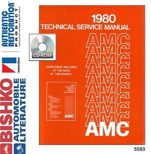 1980-AMC-Spirit-Concord-Eagle-Service-Shop-Repair-Manual-CD-Engine-Drivetrain-OE