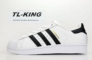 Adidas Originals Superstar J GS Youth Shell Toe White Black Gold C77154