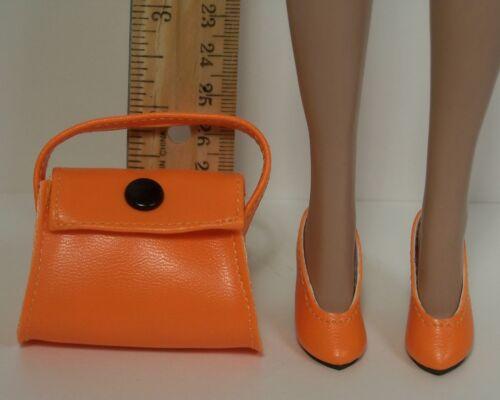 "2pc ORANGE High Heel Doll Shoes Handbag-Purse FOR 16/"" Tyler Wentworth Debs"