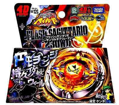 BEYBLADE JAPAN TAKARA TOMY METAL FURY BB-126 4D FLASH SAGITTARIO 230WD+Launcher
