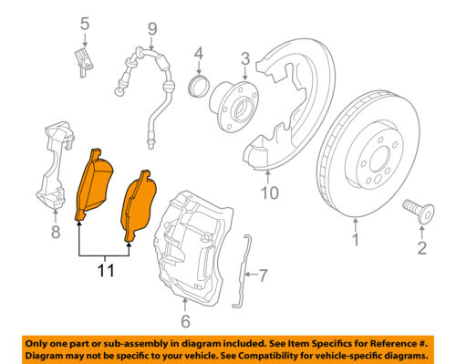 VOLVO OEM 07-15 S80 Brake-Front Pads 30793540