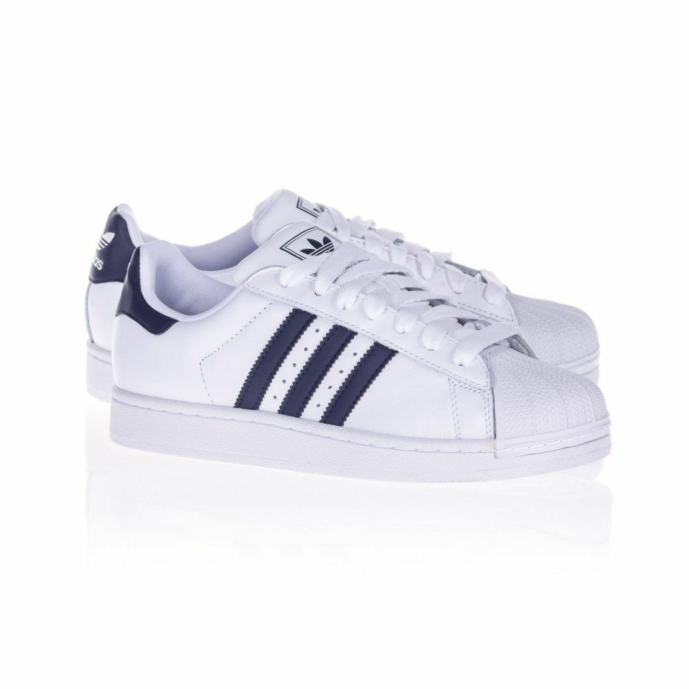 Adidas Originals Superstar II Trainers White/Navy Casual Lace Up G17070 New Casual wild