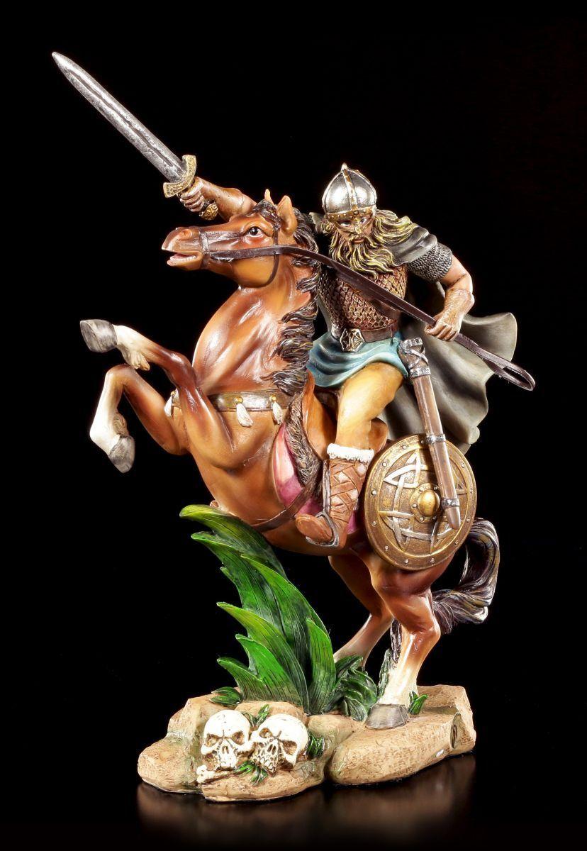 Vikingos - Figura Guerrero a Caballo - Jinete Guerrero Nordmann