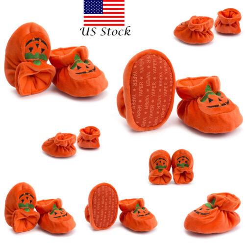 Fashion Halloween Pumpkin Infant Toddler Baby Boy Girl Soft Sole Crib Shoes