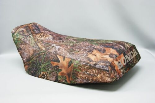 ST HONDA TRX450 FOREMAN Seat Cover in 2-TONE Hornz Camo /& Black  or 25 Colors