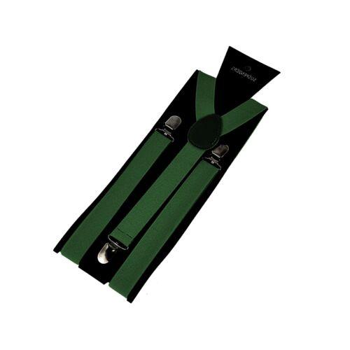 Hosenträger Herren Damen Jeans Hosen Träger 25mm Breit Clips Olive Grün