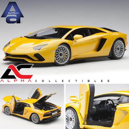 AUTOART 79132 1 18 LAMBORGHINI AVENTADOR S jaune Orion Metallic jaune