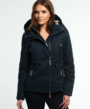 New Womens Superdry Microfibre Boxy Snorkle Jacket Dark Navy