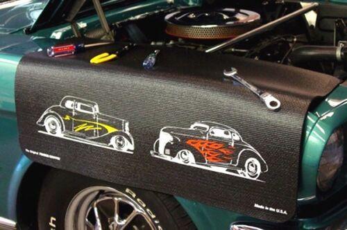 Black Chevy Style Street car mechanics fender cover paint protector vintage