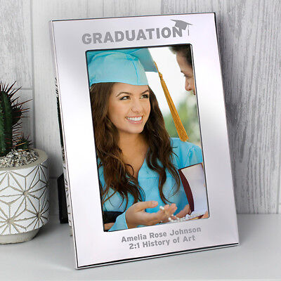 Personalised Silver 4x6 Graduation Photo Frame Gift End of University Pass Gift