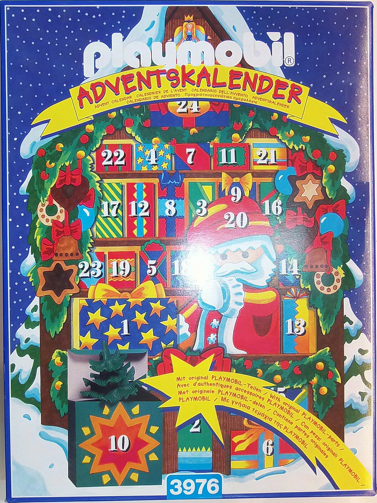 PLAYMOBIL 3976 Adventskalender Weihnachtsmarkt Christmas Market Advent Calendar