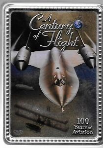 A Century of Flight - 100 Years of Aviation DVD COLLECTORS TIN USED dvd (4) SET
