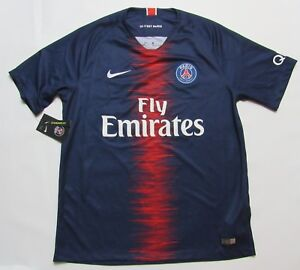 best website 681ac 457e8 PARIS SAINT-GERMAIN PSG home NEW jersey shirt NIKE 2018-2019 ...