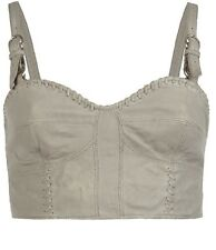 All Saints Maisie Bra Leather Bralet Cropped Top Harness Festival Rihanna BNWT
