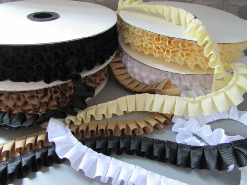 Grosgrain Ribbon Box Pleat Trim Many Colours X 1M Sewing//Rosette//Crafts//Corsetry