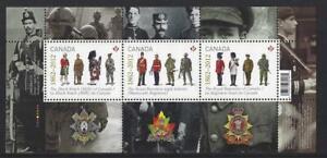 Kanada-2012-die-Regiment-Miniatur-Blatt-Nicht-Gefasst-Postfrisch-MNH