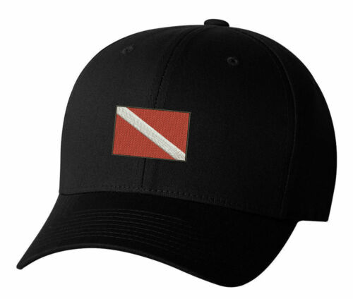 Dive Flag Divers Boating Embroidered Hat 4 Colors