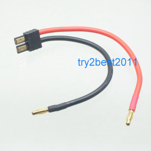 Traxxas Style 12 gauge Charger Lead Banana Plug to Traxxas Style Plug//Connector