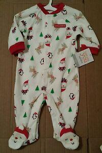 f34100b93 NWT Just One You by Carters Fleece Christmas Sleeper Santa s ...