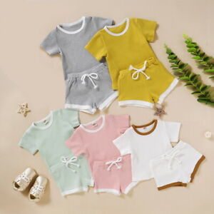 ❤️ Newborn Baby Girl Clothes Romper Jumpsuit Shorts Pants Toddler Outfits Set