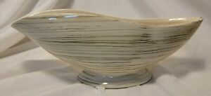 Vintage McCoy Pottery Harmony Green White Footed Planter Mid Century Modern