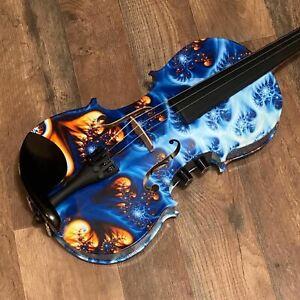 Geneva GVE-4001 4/4 Acoustic Electric Violin Outfit