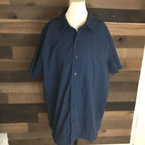 Men-s-North-Face-Blue-Short-Sleeve-Button-Up-Shirt-XL