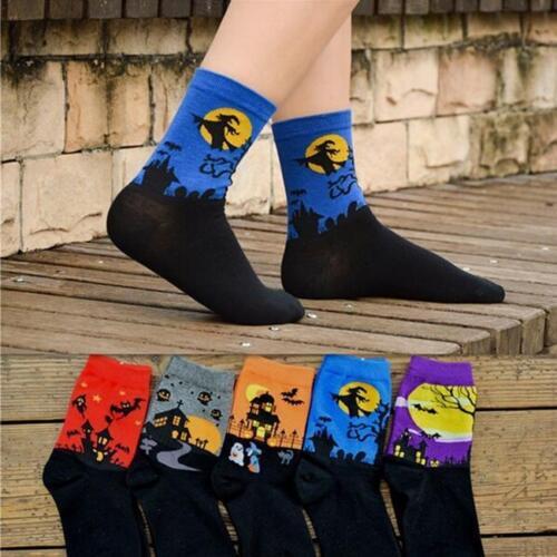 Men Women/'s Fashion 3D Cartoon Halloween Socks Lovers Cotton Soft Socks Floor S