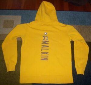 AUTHENTIC-Fanatics-EVGENI-MALKIN-Pittsburgh-Penguins-THIRD-Yellow-JERSEY-HOODY-S