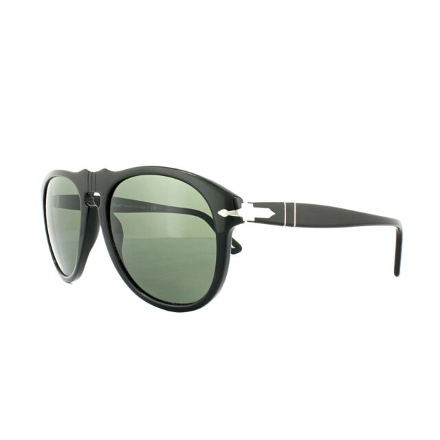 1957758b52c4 Original Persol PO 0649 95/31 Black Frame Grey Green Lens Sunglasses ...