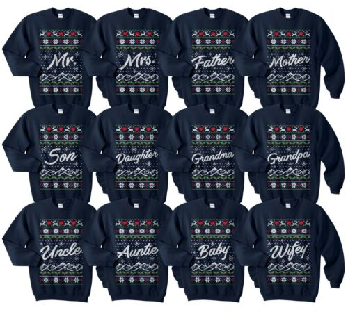 hijo de madre tío Familia Ugly Christmas Sweater puentes conjunto divertido juego padre