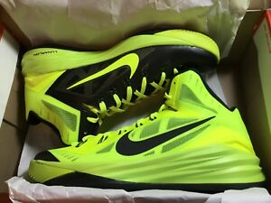 4e79a7e5e70d Image is loading NEW-Nike-Hyperdunk-2014-653640700-Volt-Black-Basketball-