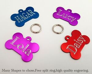 PET-ID-TAGS-DOG-Puppy-CAT-Kitten-Address-Name-Disc-ENGRAVED-PERSONALISED