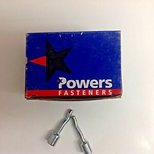 """# 03758 Box Powers Fasteners Pipe Spikes 3//8/"""" Zinc Plated Cat 50 PCS"""