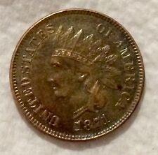 1871 Indian Head Cent Fine Details