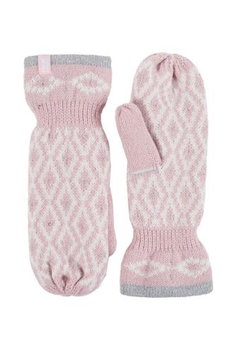 Heat Holders Ladies Fleece Lined Insulated Knit Warm Thermal Winter Mittens