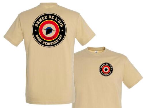 """Tshirt /"""" BA 107 VILLACOUBLAY Armée de l/'air /"""" COS FENNEC T SHIRT AIR"""