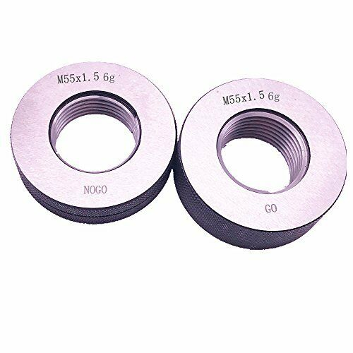 M55x1.5 M55 x 1.5 thread ring gage 6g GO NOGO 100/% calibrated by expedited DHL