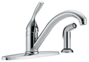 Delta-400-DST-Single-Handle-Kitchen-Faucet-With-Spray-Chrome