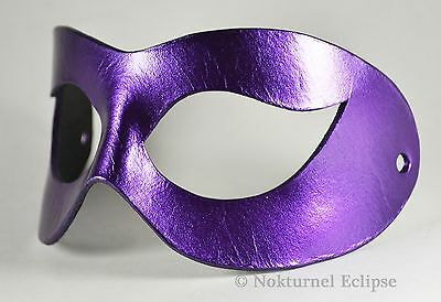 Harley Quinn Black & Purple Leather Mask Arkham Asylum Batman Superhero Gotham