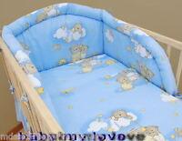 Lovely 5 Pcs Nursery Bedding Set/bumper/pillowcase/duvet/ Cover 4 Cot/cot Bed
