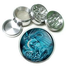 "2.5"" 4PC Aluminum Sifter Magnetic Herb Grinder Dragon Design-004 Mystical"