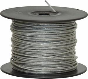 1.5 mm x 100 m Galvanized Steel Clear PVC Plastic Coated Wire Rope ...