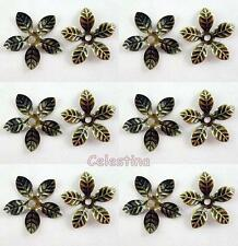 50 x Antique Bronze Bead Caps Flower - 15mm Bead Cone Iron Daisy Cap BC40