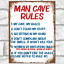 thumbnail 38 - Funny Metal Signs Retro Wall Plaque House Garage Shed Cave Joke Novelty Tin Sign