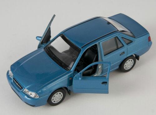 Blitz envío Chevrolet nexia II azul//Blue Welly modelo auto 1:34 nuevo /& OVP