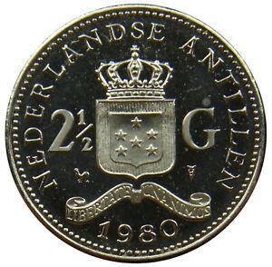 (c39) - Niederländische Antillen Netherlands Antilles - 2 1/2 Gulden 1980 Km# 19 Angenehm Im Nachgeschmack