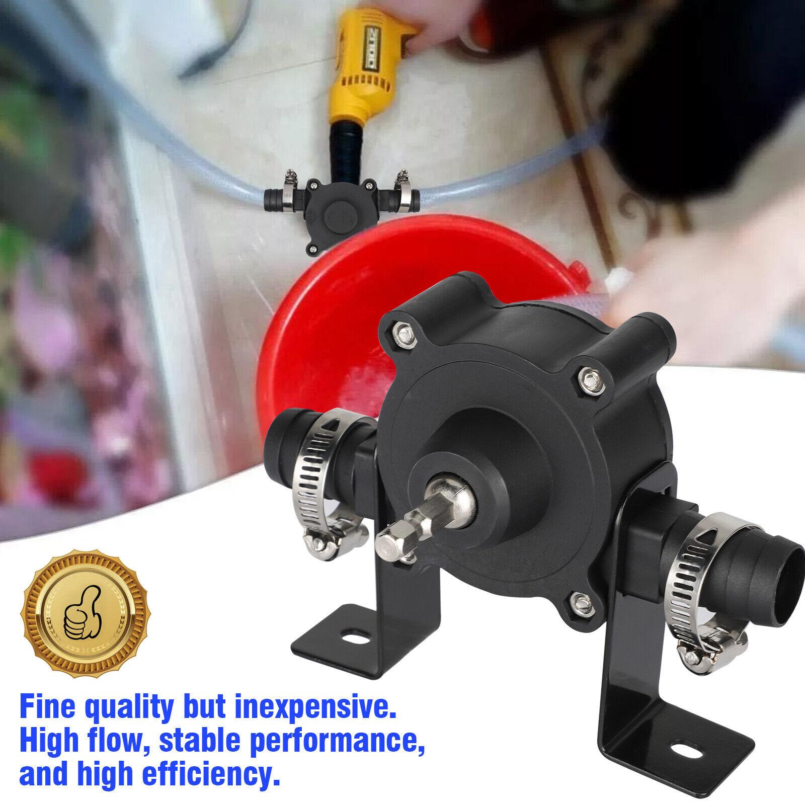 Hand Electric Drill Drive Self Priming Pump Oil Fluids Water Transfer Pump Sweet