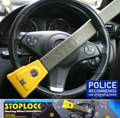 StopLock Original Robust High Security Flashing LED Car Van Steering Wheel Lock